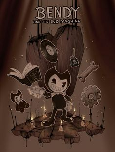 Bendy and the Ink Machine! by Dreaming-Witch on DeviantArt Bendy And The Ink Machine, Geeks, Bendy Y Boris, Ghost World, Alice Angel, Deal With The Devil, Pokemon Images, Beast, Cartoon Games