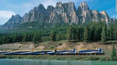Canada's Rocky Mountaineer train offers a variety of routes, but the classic Banff to Vancouver journey highlights some of the region's most stunning scenery. The train's Gold Leaf Service includes perks like free alcoholic beverages, gourmet meals and private viewing cars.