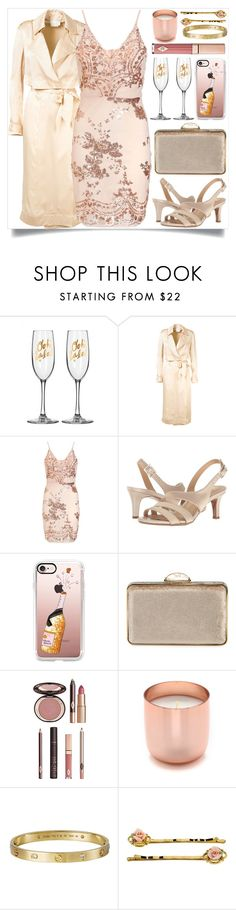 """""""Champange Papi"""" by itsybitsy62 ❤ liked on Polyvore featuring Misha, Naturalizer, Casetify, Judith Leiber, Charlotte Tilbury, Jonathan Adler and Cartier"""