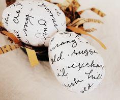 Decoupaged Easter Eggs...