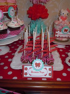 "Photo 10 of 32: Hello Kitty Red, Pink & Aqua / Birthday ""Hello Kitty 7th Birthday"" 