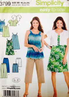 Great beginners pattern! Simplicity Easytosew 3799 top dress jacket by Lonestarblondie, $6.00