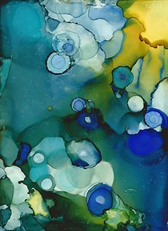 Blueberry by Lou Jordan  ~  x #abstract #art  alcohol ink