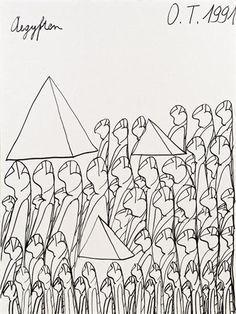 Oswald Tschirtner was an artist from Austria who had schizophrenia.