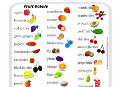 A Drive-elem indexkép-előnézete Food Spot, Green Grapes, Sweet Cherries, Grapefruit, Watermelon, Blueberry, Raspberry, Pineapple, Bingo