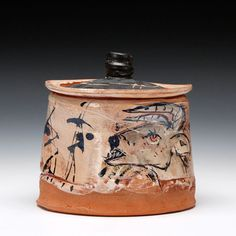 Schaller Gallery : Artist : Ron Meyers : Jar with Goat and Rat