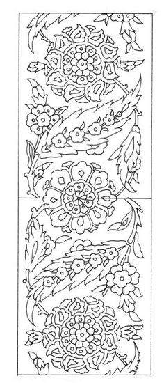 Home living color wall treatment kitchen design Turkish Design, Turkish Art, Colouring Pages, Coloring Books, Pattern Art, Pattern Design, Embroidery Patterns, Hand Embroidery, Stencil