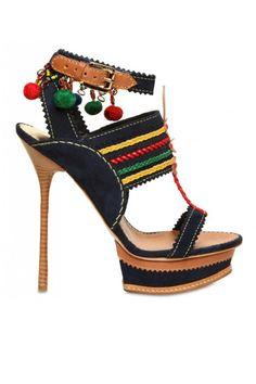 DSquared2 Multicolor Platform Sandals