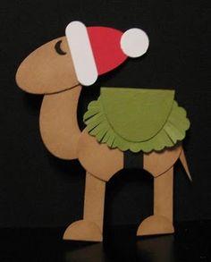 Stampin' Up!  Punch Art  Ellen Kemper  Christmas Camel