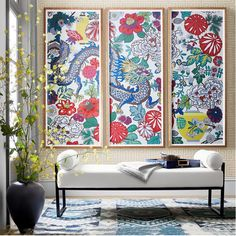 DIY Chinoiserie Wallpaper Panels - Monica Wants It