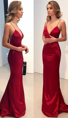 Sexy Simple Long Prom Dress Custom Made Formal Dress Fashion Winter Dance Dress - Prom Dresses Junior Formal Dresses, Cheap Formal Dresses, Prom Dresses 2018, Cheap Evening Dresses, Mermaid Prom Dresses, Prom Party Dresses, Casual Dresses, Dress Formal, Matric Dance Dresses