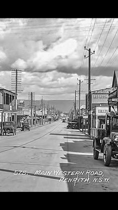 High street Penrith way back in Blue Mountains Australia, Australian Road Trip, Penrith, Scenery Photography, Local History, Western Australia, Historical Photos, Old Photos, City Photo