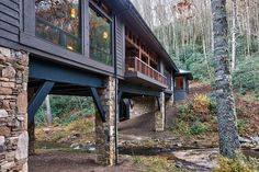 Bridge House: Home Across A Stream: Interior Design Ideas