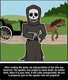literary analysis of the poem because i could not stop for deat by emily dickinson Poembecause i could not stop for death by emily dickinson first published in 1890 because i could not stop for death— he kindly stopped.