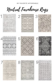 Neutral Farmhouse Rugs — Home With Joanie – Just Deploy It! Dining Room Sets, Living Room Area Rugs, Rugs In Living Room, Dinning Room Rugs, Bedroom Area Rugs, Dining Room Area Rug Ideas, Rug Under Dining Table, Kitchen Area Rugs, Farmhouse Area Rugs