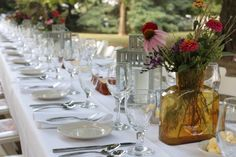 Garden Suppers | Beautiful outdoor full course dinners overlooking the garden + farm
