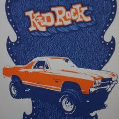 Kid Rock - 2006 Billy Perkins poster Austin Texas Frank Erwin Center