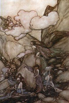 Fairies (from Rip Van Winkle) by Arthur Rackham.
