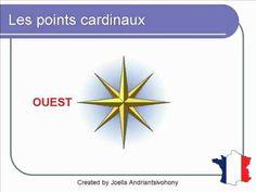 French Lesson 59 - Les points cardinaux - Rose des vents (Cardinal directions - Compass Wind rose)
