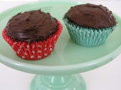 Recipe: Two (Exactly two!) Chocolate Cupcakes by brettbara: Perfect for when you don't want a lot of leftovers! #Cupcakes #Two_Cupcakes #Chocolate #brettbara
