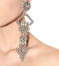 Silver-tone clip-on earring