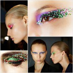 Dior's Swarovski studded eye make up