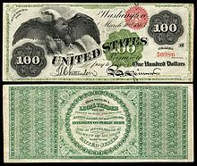 1863 $100 U.S. Legal Tender Note