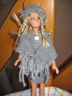 Barbie Et Ken, Free Barbie, Barbie Patterns, Point Mousse, Knit Crochet, Dolls, Knitting, Dressing, Fashion
