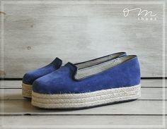 ZA#Loafers #plataform #Shoes #Blue www.omshoes.com.ar