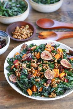 This Roasted Sweet Potato and Fig Kale Salad makes a wonderful salad that can be enjoyed as an entree or a side dish!