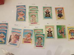 Garbage Pail Kids Partial #s OS-1 thru OS-9 Ungraded 250+ cards total 8311