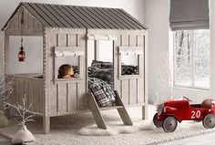 cabin bed is kid size indoor dwelling by restoration hardware 1