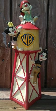 "VTG 12.5"" Porcelain Animaniacs Piggy Bank Warner Bros Cartoon Rare Item Ceramic  #WarnerBrothers"