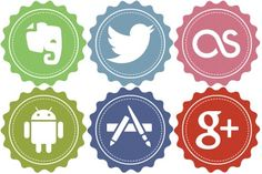 Free Icons: Iconset: Vintage Social Icons by Iconstoc | Social | Iconstoc (Azis Hertanto)