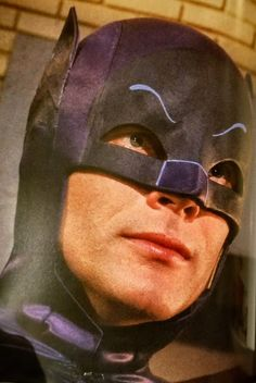 This cowl matches the ones I have in measurements, color and material exactly. The black around the eyes has the same sheen and tex. Batman Batcave, Batman 1966, Batman Comics, Batman And Superman, Batman Robin, Batman Tv Show, Batman Tv Series, James Gordon, Tv Band