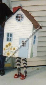 Homemade House That Fell On The Wicked Witch of The East Costume- Ha!  I need to make one of these.