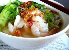 3 hungry tummies: Fresh Rice Noodle Soup With Prawns 清湯蝦球河粉