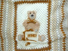 Baby Blanket Crochet Baby Afghan Baby Shower Gift  by Nitcraft