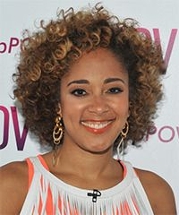 Amanda Seales  Hairstyle: Casual Short Curly Hairstyle  my hair used to do this without any effort, then menopause hit and my hair changed and is still changing