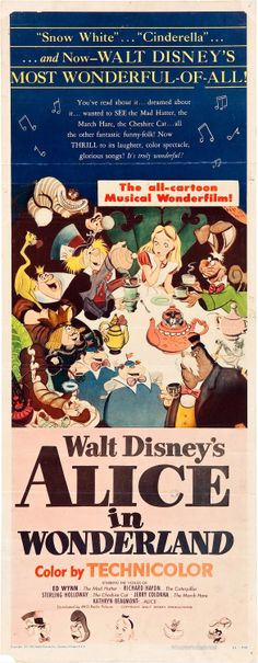 """Alice in Wonderland"" (1951). Walt Disney Productions / RKO Radio Pictures. Animation"