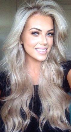 Blond alleen in de zomer? NO WAY! 11 prachtige voorbeelden van koele blonde kleuren in lang haar. - Pagina 2 van 11 - Kapsels voor haar
