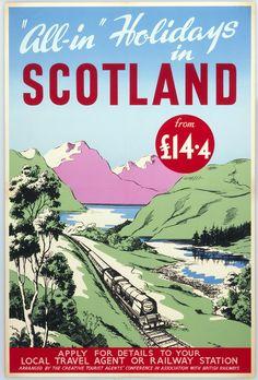 Scotland, British Railways, 1950   15 Vintage British Rail Posters That Will Give You Wanderlust