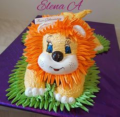 Одноклассники Lion Cakes, Lion King Cakes, Cake Icing, Eat Cake, Cupcake Cakes, 1st Boy Birthday, 1st Birthday Parties, Marzipan, Beautiful Cakes