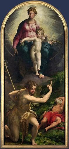 Artist             [show]Parmigianino (1503–1540)                                                                                                       Title     The Vision of St Jerome         Date     1527         Medium     oil on panel         Dimensions     Height: 343 cm (135 in). Width: 149 cm (58.7 in).