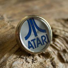 Retro Atari Pin / Lapel Badge by UnofficiallyOriginal on Etsy