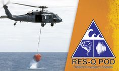 I love this picture.  The RES-Q pod Tsunami Survival Pod in action.