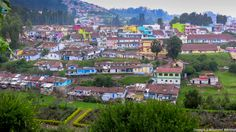 Picturesque of the town adjacent to Rose Garden, Ooty.  Its been shot after a mild rain shower.