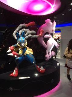 Pokemon Center Mega Tokyo Mega Lucario Mega Mewtwo Figure