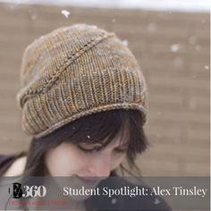 Launch Your Line student Alex Tinsley started knitting in high school and is exploring the possibility of putting her work into production.