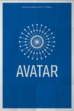 Avatar (2009) ~ Minimal Movie Poster by Pedro Vidotto #amusementphile
